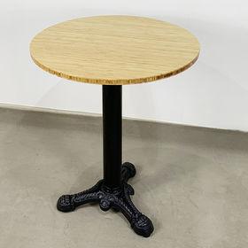 SFBCF034 - Bàn cafe gỗ TRE tròn 60cm chân gang đúc