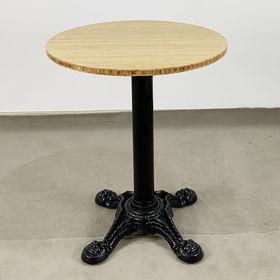 SFBCF035 - Bàn cafe gỗ TRE tròn 60cm chân gang đúc