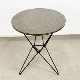 SFBCF038- Bàn Cafe gỗ TRE ÉP tròn 60cm chân sắt Lap