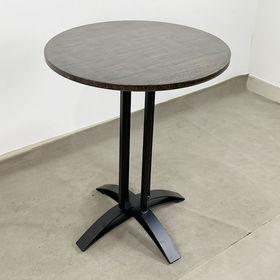 SFBCF039 - Bàn cafe tròn 60cm gỗ TRE ÉP chân sắt đế chữ thập