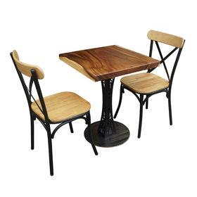 CBCF011 - Bộ bàn cafe gỗ me tây và 2 ghế tỷ tôm