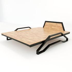 SFGN008 - Giường ngủ Tankbed khung sắt lắp ráp gỗ cao su