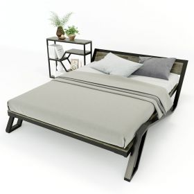 SFGN011 - Giường ngủ Belly khung sắt gỗ cao su