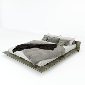 SFGN014 - Giường ngủ đôi gỗ cao su JAPA
