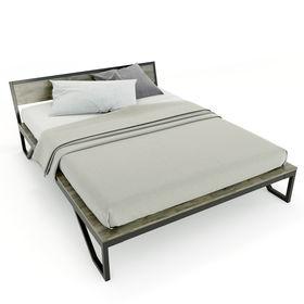 SFGN015 - Giường ngủ đôi ROBO gỗ cao su khung sắt lắp ráp
