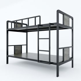 SFGN017 - Giường tầng khung sắt lắp ráp gỗ cao su