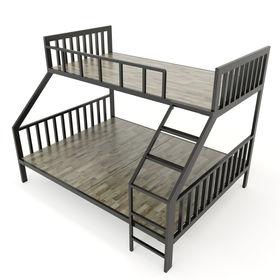 SFGN018 - Giường tầng BAYA gỗ cao su khung sắt lắp ráp