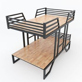 SFGN019 - Giường tầng UMA gỗ cao su khung sắt lắp ráp