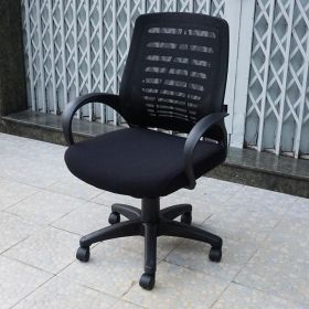 SFGLV021 - Ghế làm việc văn phòng chân xoay màu đen