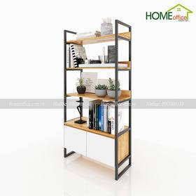 Kệ tủ gỗ trang trí 4 tầng hiện đại - SFKS027
