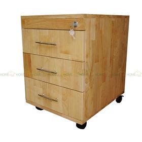 SFTCN002 - Tủ hồ sơ cá nhân có 3 ngăn kéo gỗ cao su