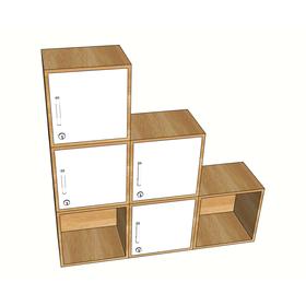 SFTCN008 - Bộ tủ cá nhân 6 ngăn tủ Locker tùy ý sắp xếp