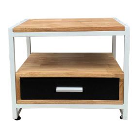 SFTDG017 - Tủ đầu giường khung sắt gỗ cao su
