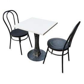 CBCF010 - Bộ bàn cafe chân sắt hoa văn và ghế sắt