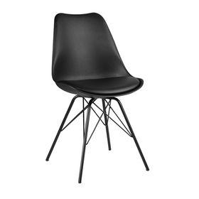 GBC007 - Ghế bàn cao Eame lưng nhựa ABS chân sắt màu đen