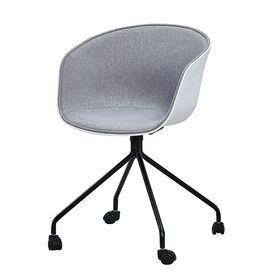 GBC032 - Ghế bàn cao lót nệm chân sắt có bánh xe di động