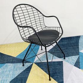 GCF011- Ghế cafe Queen sắt sơn tĩnh điện nhiều màu có nệm