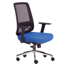 Ghế văn phòng chân xoay nệm xanh lưng lưới M1080-03