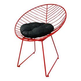 GCF010- Ghế Cafe thư giãn hình nón sắt sơn tĩnh điện nhiều màu có nệm