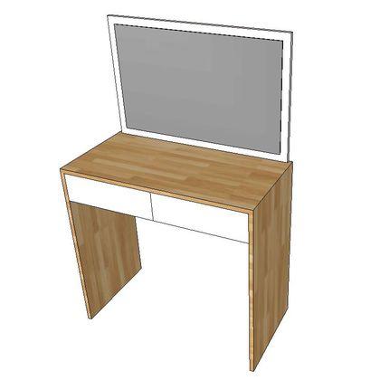 Bàn trang điểm gỗ cao su kèm gương SFBTD012
