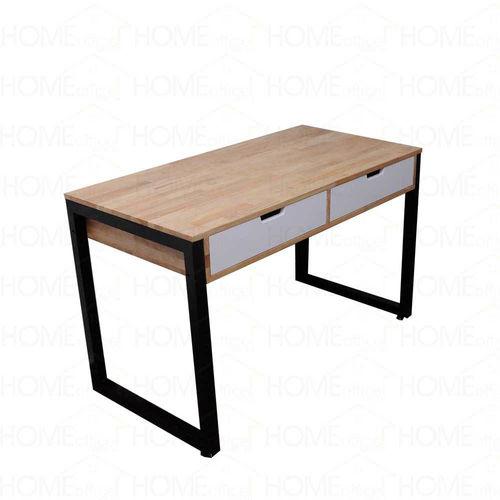 SFBHK005 - Bàn làm việc 2 hộc kéo gỗ cao su chân sắt hộp ( 1200x600x750mm)