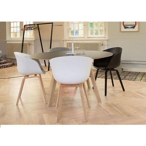 ghế cafe bành to lưng nhựa chân gỗ