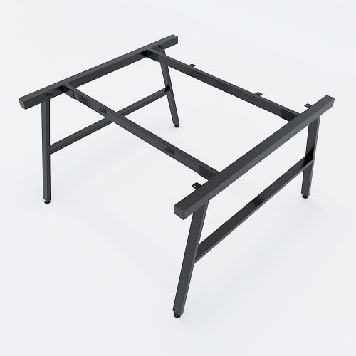SFAC005 - Bàn cum 2 chỗ ngồi gỗ cao su chân sắt chữ A