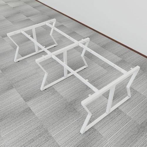 SFMC006 - Bàn cụm 4 chỗ ngồi gỗ cao su chân sắt chữ M