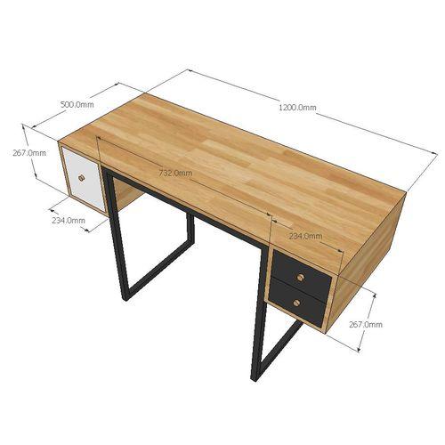 Bàn trang điểm gỗ cao su hộc kéo bên SFBTD014