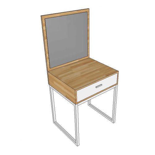 Bàn trang điểm Mini gỗ cao su chân sắt SFBTD007