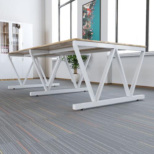 SFVC006 - Bàn cụm 4 chỗ ngồi gỗ cao su chân sắt chữ V