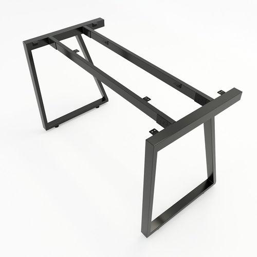 SFTV001- Bàn làm việc đơn giản gỗ cao su chân sắt hình Thang Vuông