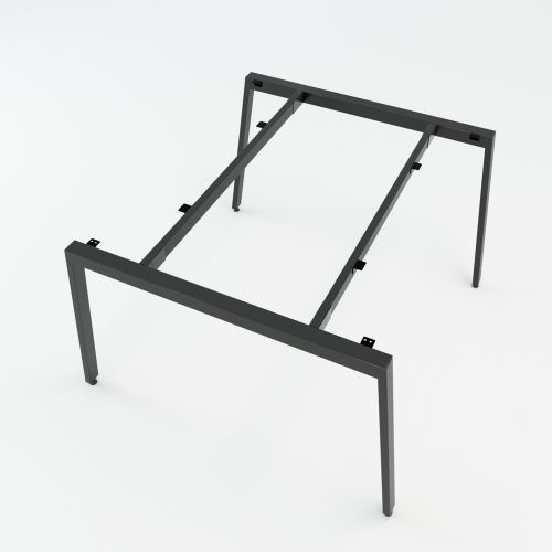 SFAT120 - Chân bàn cụm 2 chỗ sắt 25x50 lắp ráp chữ A mẫu 2