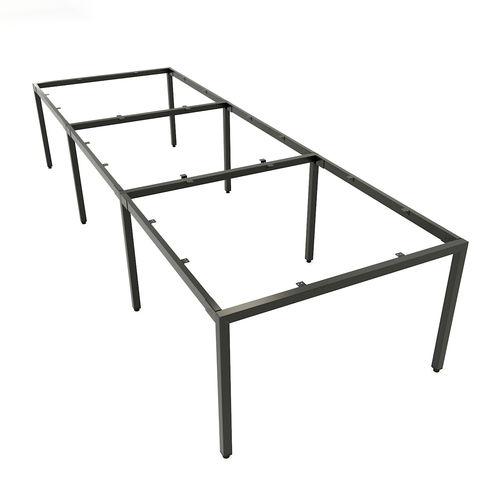 SFUC123 - Chân bàn làm việc cụm 6 chỗ sắt hộp vuông lắp ráp