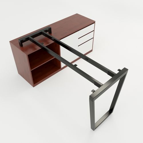 SFTC106 - Chân bàn giám đốc gác tủ sắt hộp lắp ráp hình thang cân
