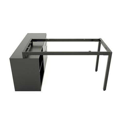SFUC106 - Chân bàn giám đốc gác tủ sắt hộp lắp ráp chữ U