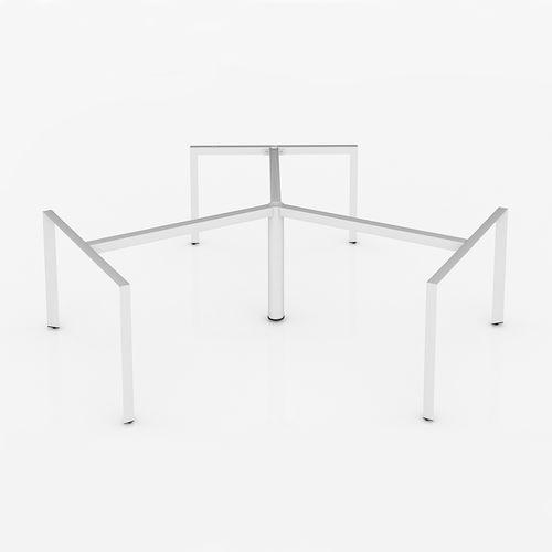 SFTA121 - Chân bàn cụm 3 chỗ tam giác lắp ráp