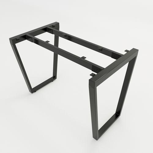 SFTC101 - Chân bàn đơn giản sắt 25x50 lắp ráp hình thang cân