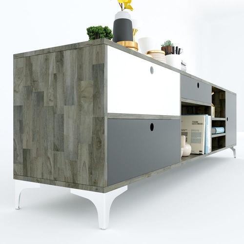 SFKTV009- Kệ Tivi Uran 2 gỗ cao su ( 200x40x55cm)