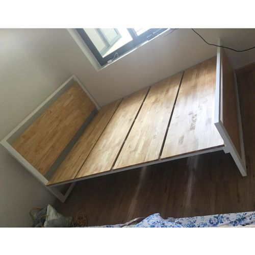 SFGN002 - Giường ngủ gỗ cao su khung sắt lắp ráp Ferrro 5