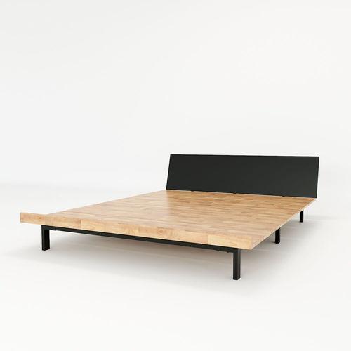 SFGN012 - Giường ngủ JAPA gỗ cao su khung sắt lắp ráp 2