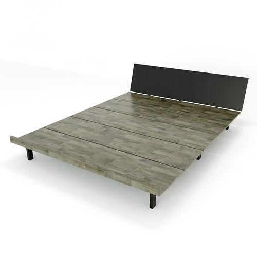 SFGN012 - Giường ngủ JAPA gỗ cao su khung sắt lắp ráp 3