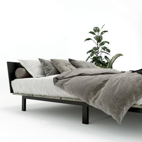 SFGN013 - Giường ngủ đơn JAPA gỗ cao su khung sắt lắp ráp