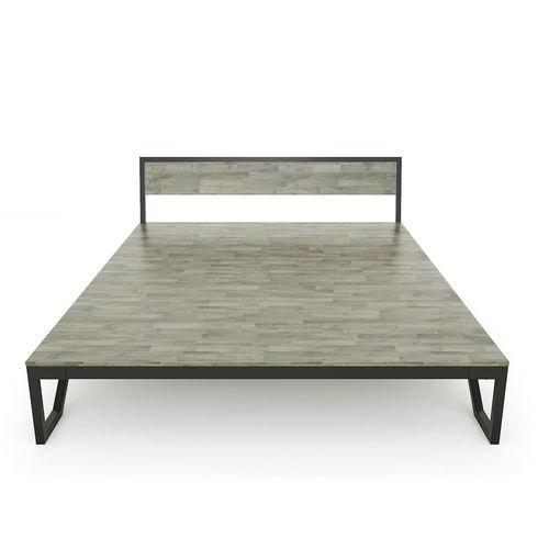SFGN015 - Giường ngủ đôi ROBO gỗ cao su khung sắt lắp ráp 3
