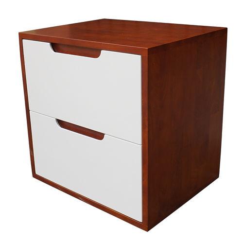 SFTDG006- Tủ đầu giường 2 hộc kéo gỗ cao su 50x40x50cm 3