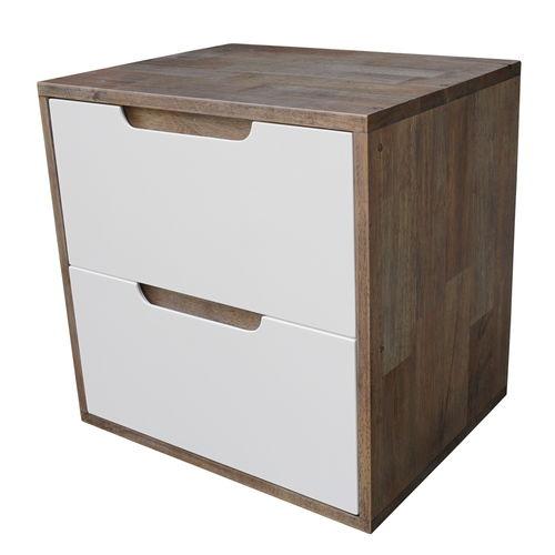 SFTDG006- Tủ đầu giường 2 hộc kéo gỗ cao su 50x40x50cm 4