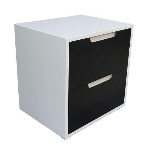 SFTDG006- Tủ đầu giường 2 hộc kéo gỗ cao su 50x40x50cm 5