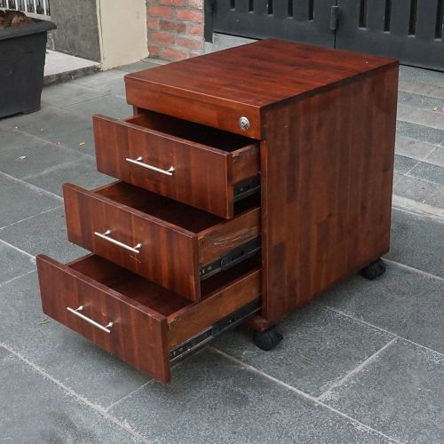 TCN68015 - Tủ cá nhân gỗ TRÀM màu cánh gián 3 ngăn kéo có khoá 2