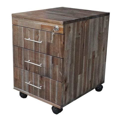 TCN68015 - Tủ cá nhân gỗ TRÀM màu cánh gián 3 ngăn kéo có khoá 3