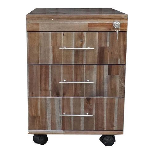 TCN68015 - Tủ cá nhân gỗ TRÀM màu cánh gián 3 ngăn kéo có khoá 4